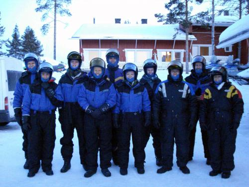 PhysE Teambuilding: Snowmobile Expedition, Lapland, 2009
